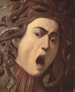 Michelangelo Merisi da Caravaggio_Das Haupt der Medusa