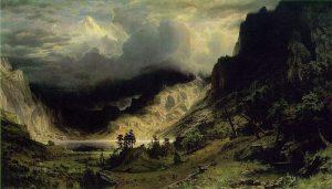 1866, Bierstadt, Storm in the Rocky Mountains