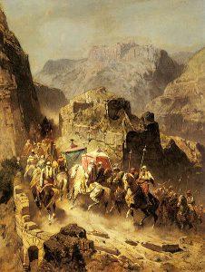 Alberto Pasini, An Arab Caravan