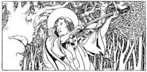 St. Boniface cuts down Thor's Oak by Charles Robinson