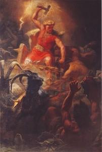 Marten Eskil Winge, Thor's battle with the Ettins (1872)