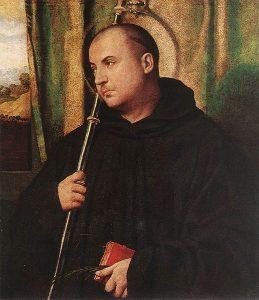 Moretto da Brescia, A Saint Monk