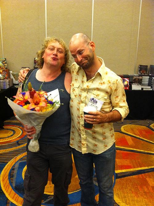 So sweet! Brandon Hodge and Richard Pett: A Proposal. (Courtesy of Brandon Hodge)