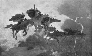 The Ride of the Valkyrs: Guerber, H. A. (Hélène Adeline) (1909). Myths of the Norsemen from the Eddas and Sagas.