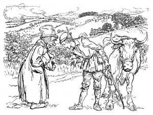 Jack and the Beanstalk (Artist: Arthur Rackham)