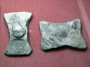 Silver ingots; photo by Chris 73 / Wikimedia Commons
