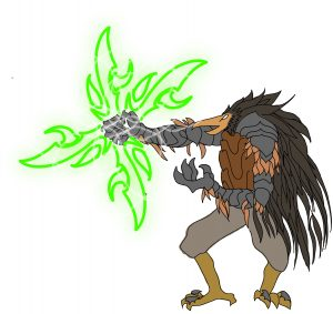 Huginn/Heru Gauntlet Witch Variant: Talonbearer Witch Racial Archetype