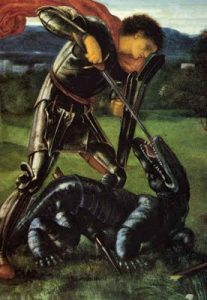 Edward Burne-Jones - Saint George Fighting the Dragon
