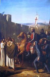 """Painting by J.Robert-Fleury, 1840, """"Les Croisades, origines et consequences"""""""