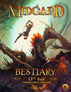 Midgard Bestiary 13th Age cover
