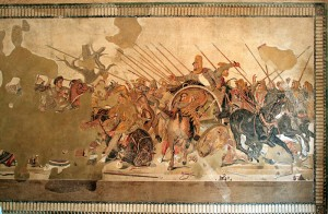 Alexander mosaic photographed in Museo Archaeologico Naples (Provided by Magrippa and Piero)