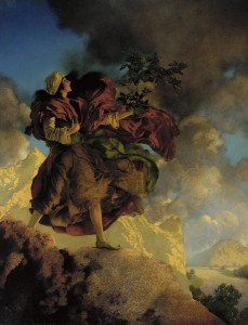 Princess Parizade Bringing Home the Singing Tree: Maxfield Parrish