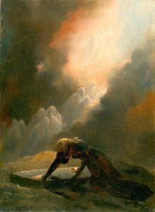 Alexandre-Evariste Fragonard - Bradamante at Merlin's Tomb.