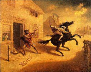The Devil and Tom Walker, The Flight, John Quidor
