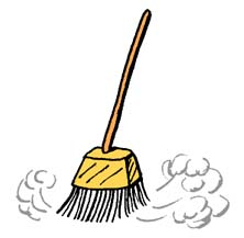 Image of broom and bucket