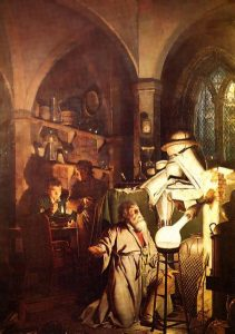 The Alchemist in Search of the Philosophers Stone (Artist: Joseph Wright)