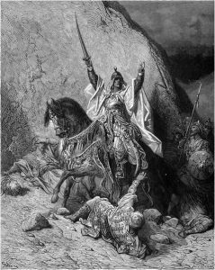 19th-century depiction of a victorious Saladin, by Gustave Doré