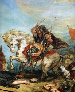 Attila the Hun by Eugene Ferdinand Victor Delacroix