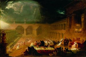 """Belshazzar's Feast Martin"" by Artist John Martin - http://www.nytimes.com/2011/10/01/arts/01iht-melikian01.html?pagewanted=all. Licensed under Public Domain via Wikimedia Commons - http://commons.wikimedia.org/wiki/File:Belshazzar%27s_Feast_Martin.jpg#/media/File:Belshazzar%27s_Feast_Martin.jpg"