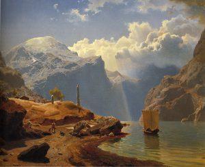 """""""Fra Hardanger Gude"""" by Hans Gude"""